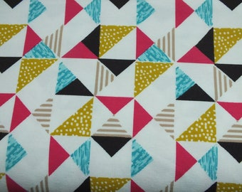 Jersey triangle triangle colored children women's fabric Cotton Jersey 0, 50 m