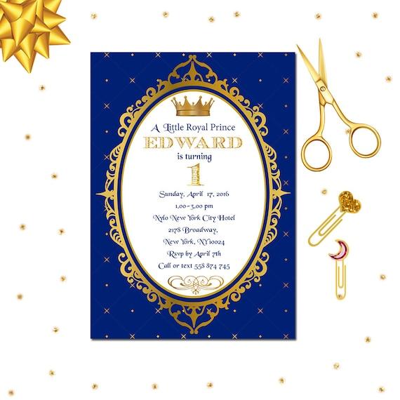 Royal Prince Invitation Royal 1st Birthday Invitation Little