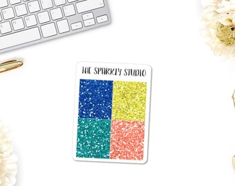 Sunny Days Glitter Headers Planner Stickers