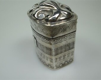 Antique silver loderein box ..