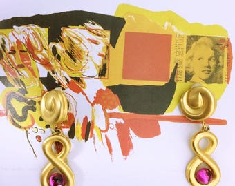 GIVENCHY 70's-80's vintage gold Earrings