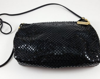 Vintage Black Whiting and Davis Mesh Purse