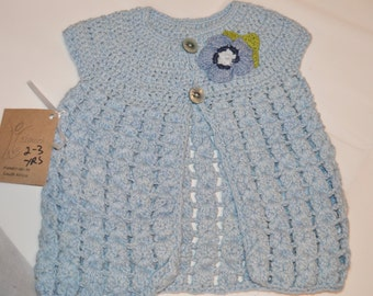 2 - 3 Years Old Girls' Light Blue Cardigan