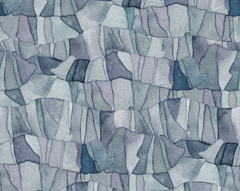 """MOSAIC Fabric, Mosaic Slate: Tres Chic TONAL MOSAIC Slate  by Quilting Treasures 100% cotton Fabric by the yard 36""""x43""""  (N587)"""