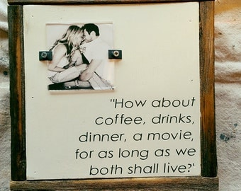 How about coffee, drinks, dinner . . .for as long as we both shall live?
