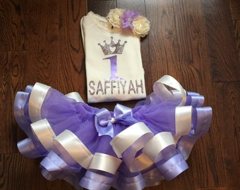Lavendar and ivory Princess Tutu set