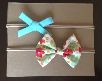 Bright flower headband set