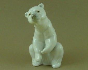 Lladro Porcelain Polar Bear Resting Animal Figure Model 1208 Un Boxed Vintage