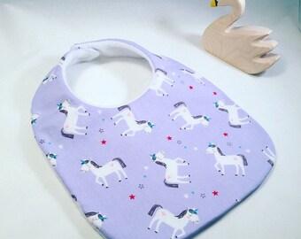 Princess Dream Unicorn baby bib - Riley Blake