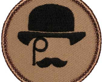 Gentleman Patch (665) 2 Inch Diameter Embroidered Patch