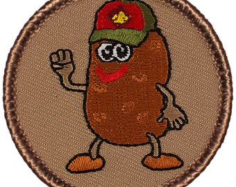 Potato Scout Patch (398) 2 Inch Diameter Embroidered Patch