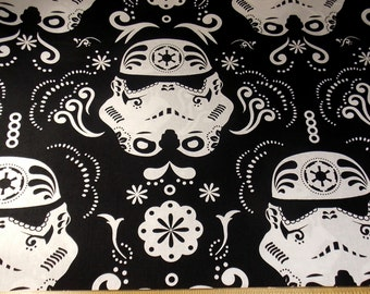 Stormtrooper Fabric  Stormtrooper  Star Wars Fabric Stormtroopers Sugar Skull Fabric Pillowcase Fabric Home Decor Fabric