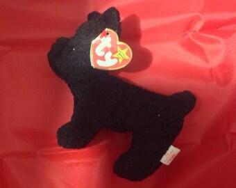 Retired 1996 Scottie ( black Scottie dog) Ty Beanie Baby with swing tag