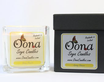 Spring Flowers Scented Soya Candle