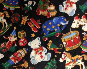 CONCORD CHRISTMAS FABRIC/Cotton/Christmas Toys/Kessler Design/44 Inches Wide/By The Half Yard
