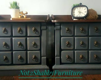 Still Available -Rustic Distressed night stands or end tables set of 2