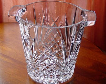 Royal Gallery Large Ice Bucket 24% Lead Crystal Made in France