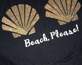 Beach, please! Seashell tee