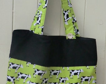 Tote Bag featuring Cows.