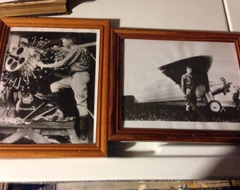 Two rare charles lindbergh black and white framed portraits by underwood