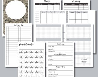 POCKET Sized: Vacation Planning Printable Insert for Travelers Notebook