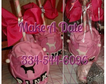 CUSTOM VS PINK candy apples! If you can think it... I can make it