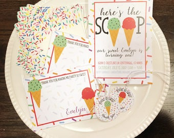Ice Cream Birthday Party Package