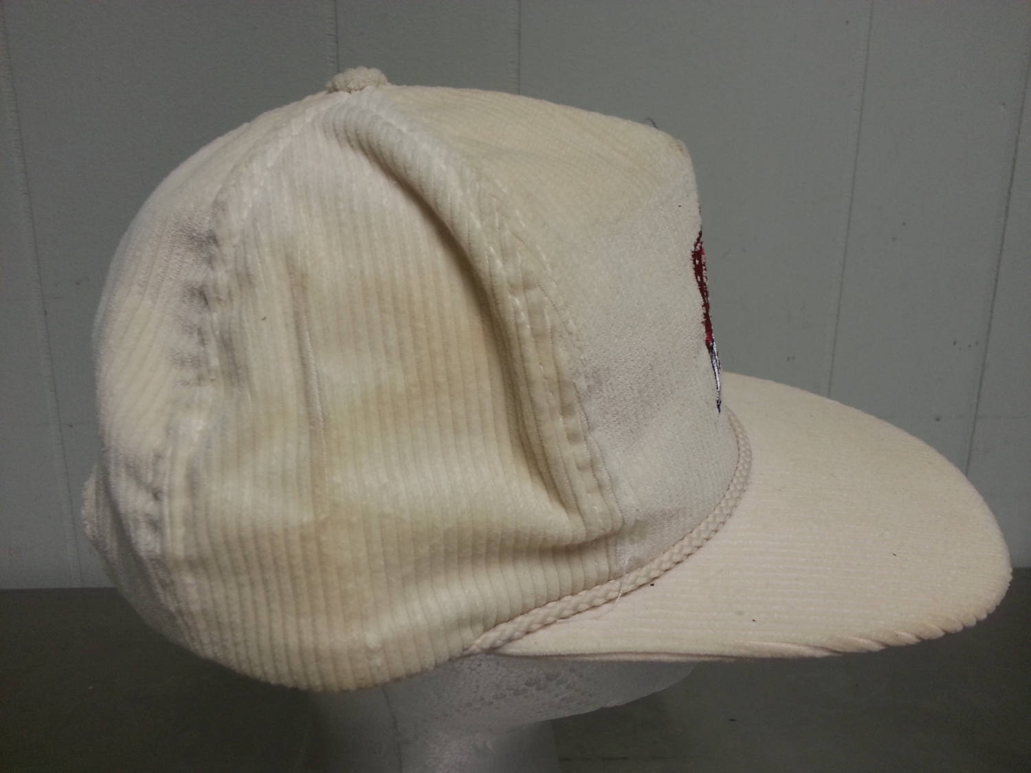 Vintage 80 s White Corduroy Superbowl XXI Adjustable Snap Back Dad Hat NFL  Football Made in USA 84e6b820a