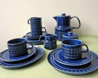 Blue. Vintage. Coffeeset. Ceramic. Melitta. Tableware. Midcentury. Modern. German Pottery. Kopenhagen.
