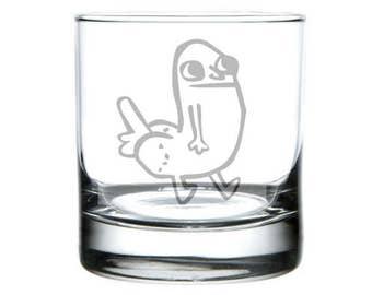 Dickbutt meme glass,  dickbutt gift, internet meme gifts, 4 chan, dank meme gift, dickbutt present, dickbutt meme, wine pint rocks glasses