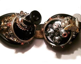 Steampunk goggles - all over View