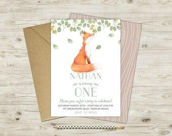 Little Fox Woodland Invitation