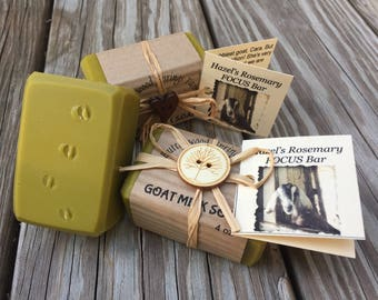 Hazel's Rosemary FOCUS goat milk soap bar