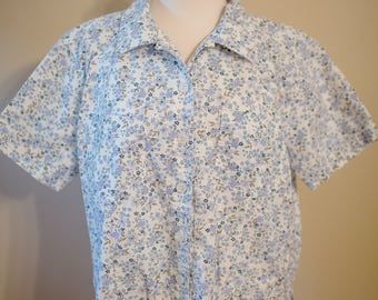 90s Floral Blouse // FREE Shipping