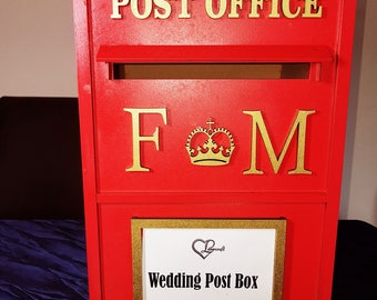 Wooden Post Box – Ideal for weddings and events.