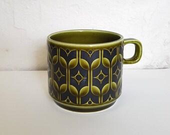 Hornsea Pottery green tea-cup   1970s Heirloom design