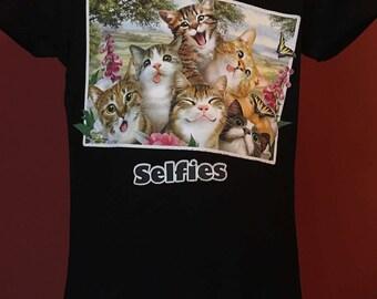Kids Cat Selfie Shirt