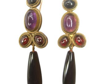 Opulent Semi-Precious Dangle Earrings by Karen Seiber.