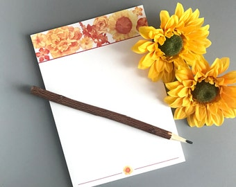 Summer Floral Notepad