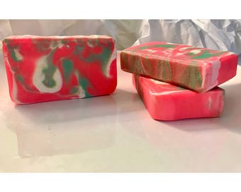 Watermelon Organic, Cold Process, Vegan, Handmade Soap