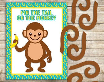 Pin the Tail on the Monkey | Monkey Party Game