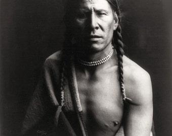 Native American Edward Curtis Heavy Shield Print Photo Art Print Picture A4