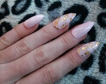 Stiletto press on fake nails