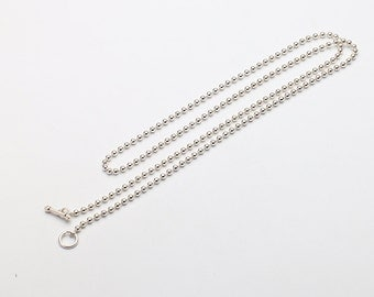 Silver Ball Chain   Simple Silver Chain   Ball Chain Necklace   Silver Beads Chain   Layering Chain Necklace   Dainty Necklace for Women