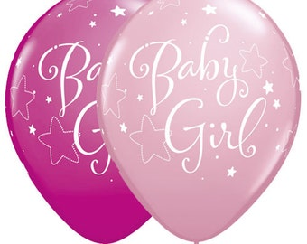 Baby Girl Pink Balloon- Baby Shower Balloons- Baby Celebration- Set of 6