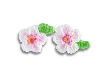Cherry blossom earrings sakura jewelry.  Pastel pink stud earrings. Cherry blossom jewelry. Sakura bloom earrings. Spring flowers earrings.