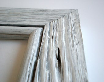 shabby chic frame 10x10 frame picture frame cottage distressed frame rustic frame gray frame crafts woodworking chicframeshop