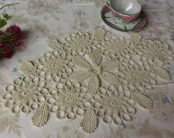 table centerpiece, doily, vintage lace from Ireland
