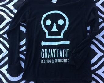 Long Sleeve Glow in the Dark Graveface Logo Shirt