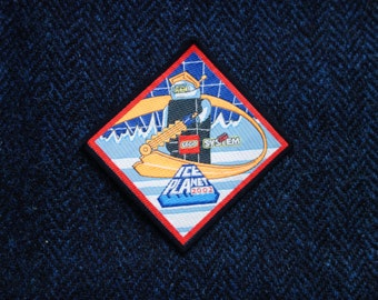 Lego Patch, Vintage Lego, Embroidered Lego Patch, Ice Planet Patch